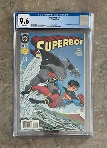 SUPERBOY #9 CGC 9.6 1ST APPEARANCE OF KING SHARK - SUICIDE SQUAD - DC 1994