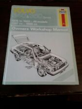 VOLVO 340 & 360 SERIES 1976 TO 1985 ALL MODELS HAYNES SERVICE AND REPAIR MANUAL