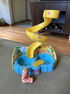 1991 Vintage Magic Diaper Babies Waterslide Set With Baby Figurine