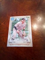 2020 Topps gypsy queen Brenden Rodgers sp missing name plate rockies