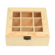 Holz Tee Beutel Schmuck Aufbewahrungs Box Brust Aufbewahrungs Box 9 Fach Tee 3A