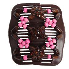 Trend African Hairclip Haarklammer Haargreifer Butterfly Holzdesign Rosa
