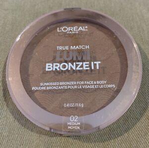 L'Oreal True Match LUMI BRONZE IT SunKissed Bronzer - 02 Medium - New Sealed