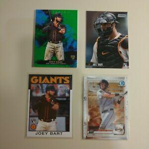 2020 & 2021 Joey Bart Prospect & Rookie Baseball Cards - 4 Cards