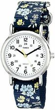 "Timex T2P370, Women's ""Weekender"" Floral Fabric Watch, Indiglo, T2P3709J"