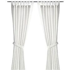 IKEA LENDA Gardinen Vorhänge 2 SCHALS m Raffhaltern Gardinenschals weiß 140x300