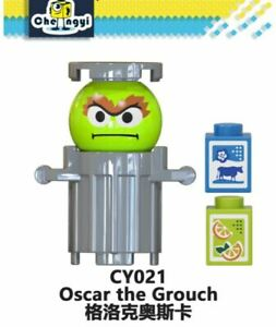 SESAME STREET Movie Character OSCAR THE GROUCH Funny Minifigure Marvel Lego MOC