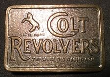 "Colt Revolvers Vintage Belt Buckle ""The Worlds Right Arm"" TM~ Collectable"