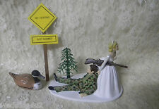 Wedding  ~Duck Fowl  ~ Cake Topper  Camo Hunter ~No Hunting Just Married Sign~