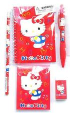 Lot of Original Sanrio Hello Kitty Note Pad Pencil Pen Note Book  Eraser 5 Items