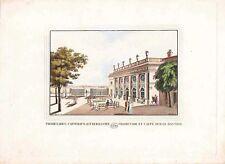 Gravure TRANQUILLO MOLLO Kupferstich,print,1815, promenade, caffeehaus aud der b