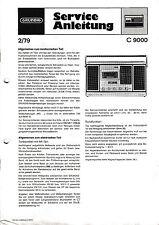 Service Manual-Anleitung für Grundig C 9000