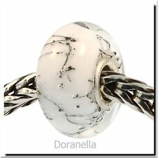 Authentic Trollbeads Glass 61303 White Steel :1