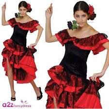 Ladies Spanish Senorita Flamenco Dancer Fancy Dress Halloween Costume XL  sc 1 st  eBay & Buy Flamenco Plus Size Fancy Dresses   eBay