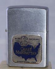 "Vintage 1958 Zippo Lighter Advertising ""Chase Manhattan Bank""     L8"