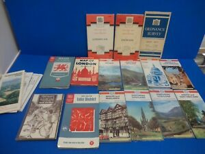 MIXED LOT OF VINTAGE MAPS