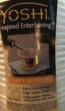 Party Bombers Shot Cups Plastic Sleeve of 25 Barware Shooters Liquor Beer YOSHI