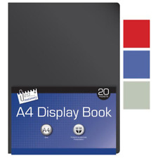 CARTELLA di progetto di visualizzazione a4 libro con 20 tasche chiare-COLORE CASUALE - 6141