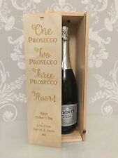 PERSONALISED Prosecco/Wine Gift Box - All Occasions Birthday Wedding Thank You