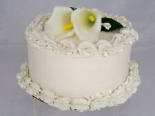 "Just Dough It Fake 7"" Single Layer Wedding Cake (W313a-2)"