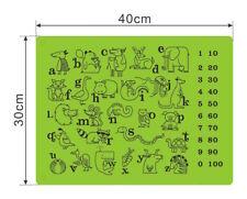 TISCHSET ABWASCHBAR 4 STÜCK Kinder Platzsets Baby Platzdeckchen Tischmatte Tiere