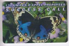 FRANCE  TELECARTE / PHONECARD  PREPAYEE .. 120U SUCCESS PAPILLON BUTTERFLY +N°