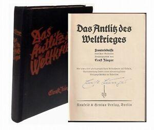 1930  ERNST JÜNGER: Das Antlitz des Weltkrieges SIGNIERT
