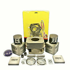 New OEM Polaris Nikasil Plated Cylinder 04-18 550F Fan Piston Gaskets IQ RMK 550
