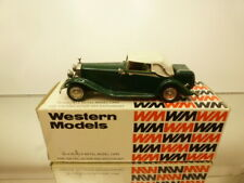 WM WESTERN MODELS WMS82 ROLLS ROYCE PHANTOM II 1933 - GREEN 1:43 - GOOD IN BOX