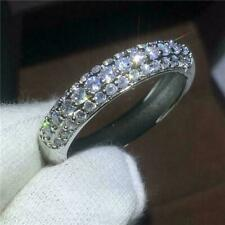 Band Ring 14K White Gold Over Certified 2.00 Ct Round Cut Diamond Wedding