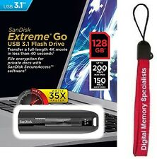 SanDisk 128GB USB EXTREME GO CZ800 128G USB 3.1 200MB/s SDCZ800-128G +Lanyard