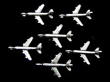 10 un. Jumbo Jet Avión-Avión-Aviones Adornos Colgantes Joyas K19