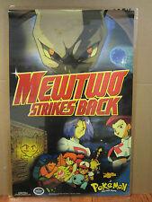 vintage Mewtwo Strikes BackPokemon 1998 Nintendo poster 2450