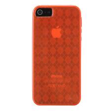 iPhone SE iPhone 5 5S Gel Case - Argyle Pattern - Orange