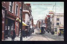 Northants NORTHAMPTON Gold St 1912 Tram PPC
