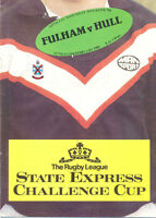 FULHAM v HULL 1982 CHALLENGE CUP 2nd round RUGBY LEAGUE PROGRAMME