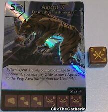 Foil AGENT X: TRAINED BY TASKMASTER 42 Deadpool Dice Masters