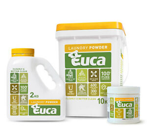 Euca Laundry Washing Powder - Natural - NOW 2kg and 10kg - Biodegradable