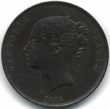 1855 Victoria One Penny | Pennies2Pounds