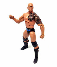 "WWF WWE Wrestling DWAYNE JOHNSON THE ROCK Mattel Elite 6"" figure VERY RARE"