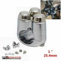 25mm Motorcycle Switches Handlebar Mount Switch 3 Button For Harley Cafe Racer