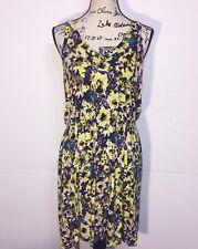 420371b4d64c H M V-Neck Knee-Length Floral Dress Womens Size M Medium Multi-Color