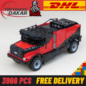Dakar Rally Truck SUV Renault RC 4WD Model Technic Bricks Building Blocks Gift
