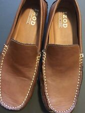IZOD Tan Casual Dress Driving Moc Slip On Loafers Shoes Size 8.5M.