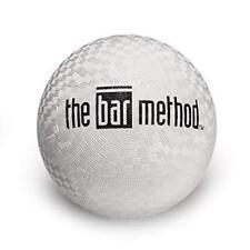"""The Bar Method Black Logo 7"""" White Exercise Ball - Brand New - Fast Ship"""