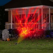 Animated Outdoor Projection Projector Images Fire Flames Halloween Decor Lights