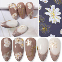 3D Nail Sticker Butterfly Flower Adhesive Transfer Decal Nail Art Decoration DIY