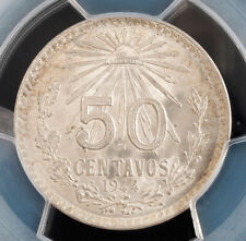 1944, Mexico (2nd Republic). Certified Silver 50 Centavos Coin. PCGS MS-65!