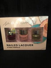 Smith And Cult Nail Lacquer Nail Polish Trio Set Metallic Pale Rosette Golden