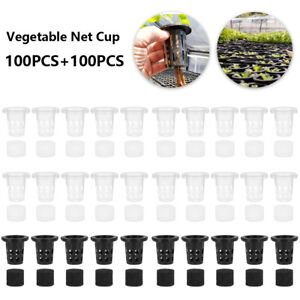 100Pcs Mesh Pot Net Cup Basket Hydroponic Garden-Plant Grow Vegetable Insert NEW